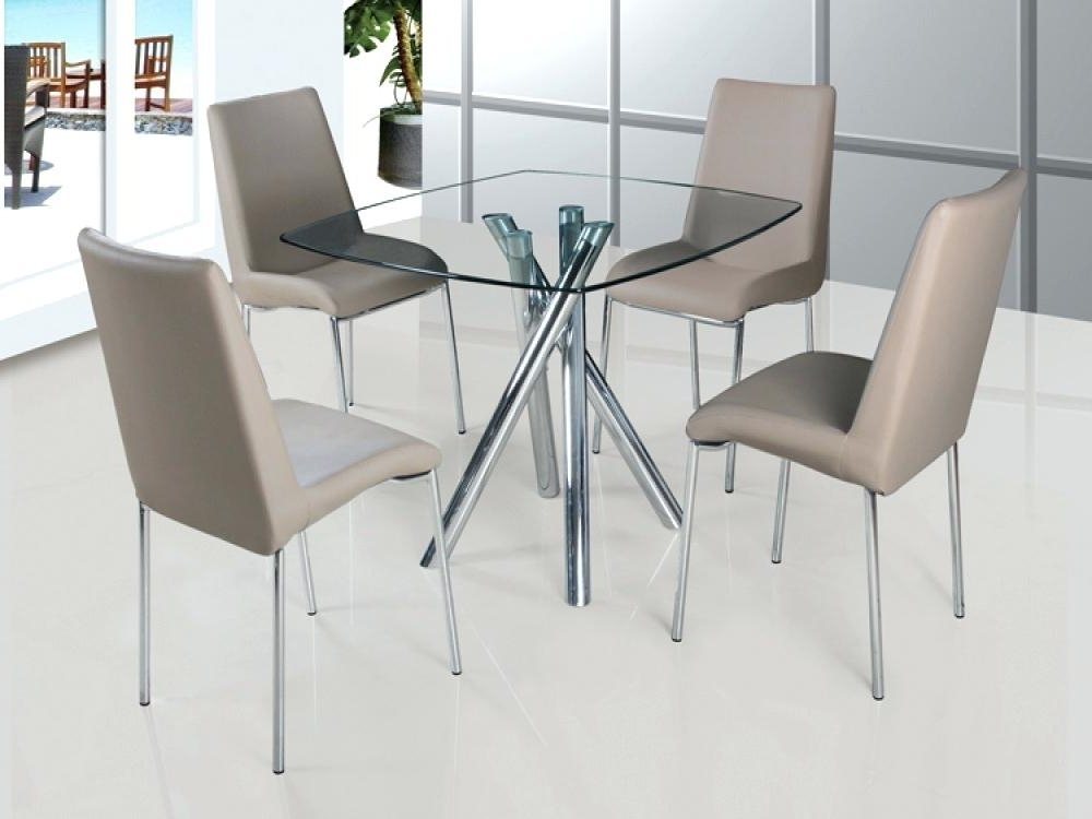 Popular Glass Dining Table Set Dining Table For Kitchen Creative Of Glass For Black Glass Dining Tables And 4 Chairs (View 13 of 20)