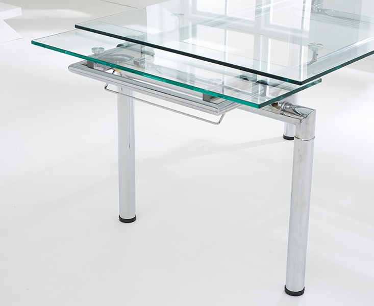 Popular Glass Folding Dining Tables Pertaining To Forli 140cm 200cm Glass Extending Dining Table (View 12 of 20)