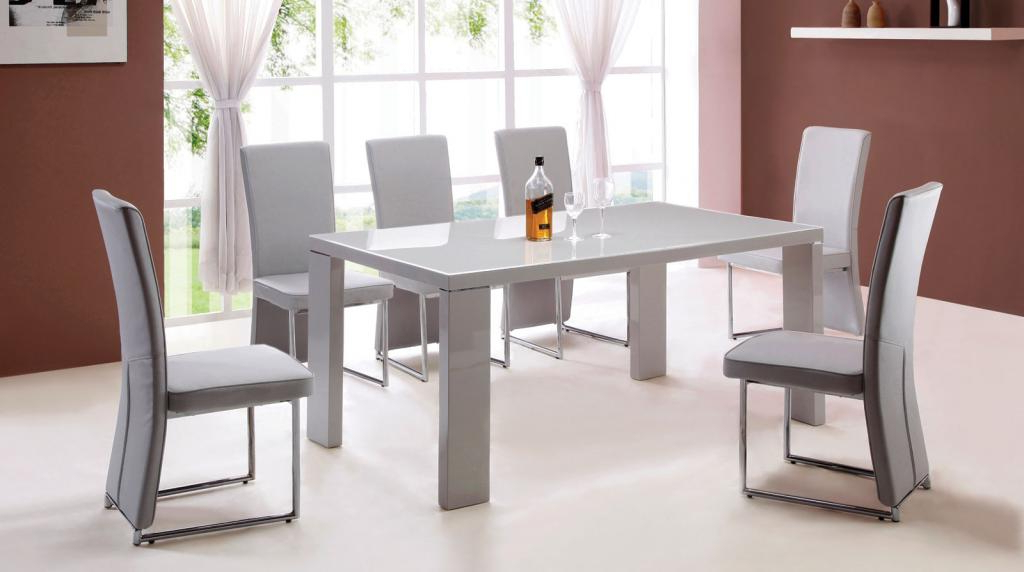 Popular Gloss Dining Set Intended For 25 Hi Gloss Dining Table Sets, Small Round White High Gloss Glass (Gallery 19 of 20)
