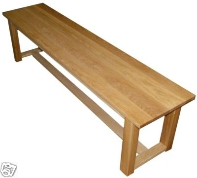 Popular Handmade Solid Oak Dining Table Bench Seat – 180cm Regarding 180cm Dining Tables (View 13 of 20)