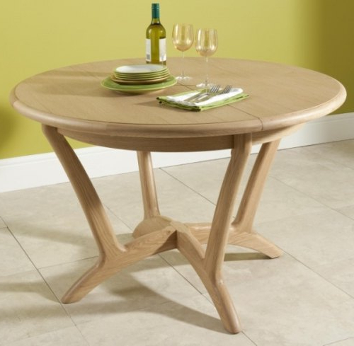 Popular Holmes Round Extending Dining Table – Dining Tables (View 20 of 20)