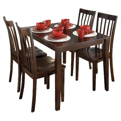 Popular Hyland 5 Piece Counter Sets With Bench Intended For Signature Designashley Hyland 5 Piece Dinette Set & Reviews (View 17 of 20)
