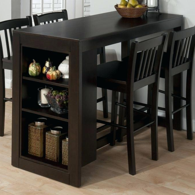 Popular Hyland 5 Piece Counter Sets With Stools Intended For Counter Height Table And Stools Nice Bar Height Table Height Dining (View 15 of 20)