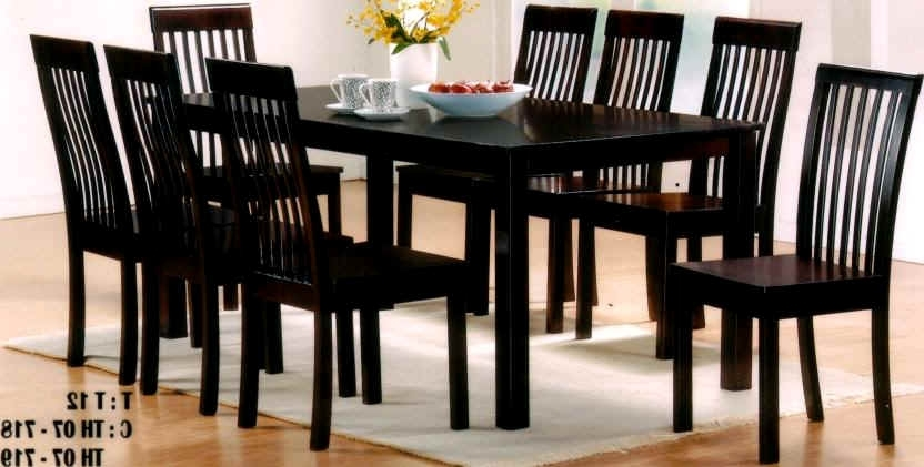 Popular Impressive Dining Table 8 Chairs Furniture Choice Of Chair Intended In Black 8 Seater Dining Tables (View 4 of 20)