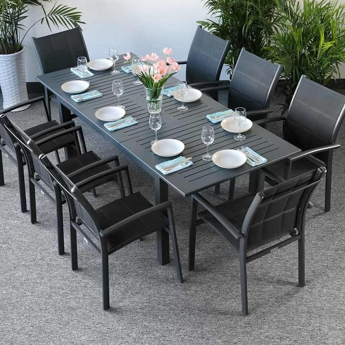 Popular Indoor Outdoor Furniture Pieces For 2018 Throughout Garden Dining Tables (View 16 of 20)