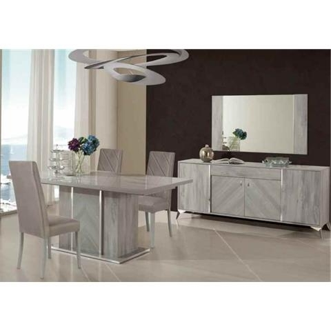 Popular Italian Modern Dining Room Collection Throughout Alexa Grey Side Chairs (View 14 of 20)