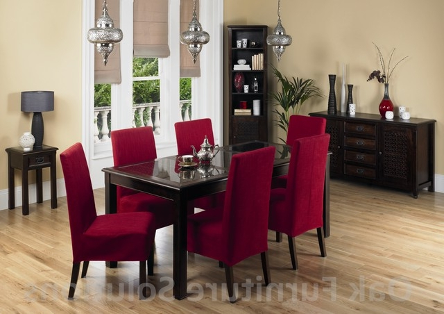 Popular Jafar 6 Seater Dining Table 6 Red Dining Chairs, 6 Chair Table Set With Regard To Red Dining Tables And Chairs (View 12 of 20)