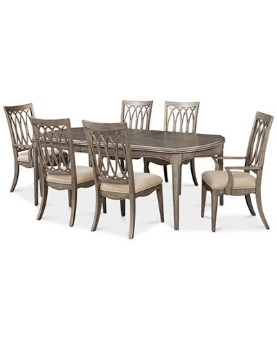 Popular Jaxon Grey 7 Piece Rectangle Extension Dining Sets With Uph Chairs Intended For Kelly Ripa Home Hayley 7 Pc (View 10 of 20)