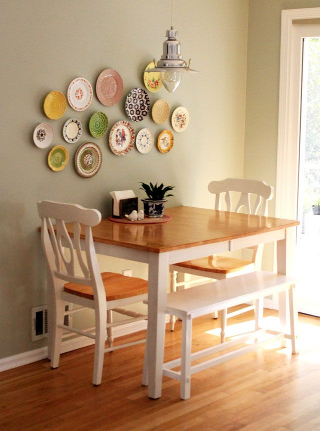 Popular Kirsten 6 Piece Dining Sets With Regard To Table Against The Wall, Two Chairs, One Bench Seat (View 12 of 20)