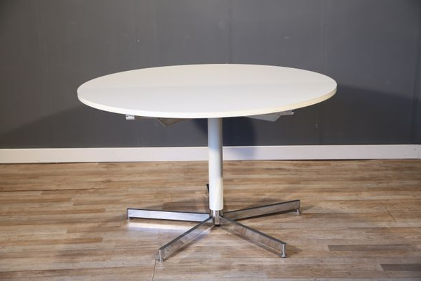Popular Large White Round Dining Tables Pertaining To Large White Round Dining Table From Tecta, 1970S For Sale At Pamono (Gallery 16 of 20)