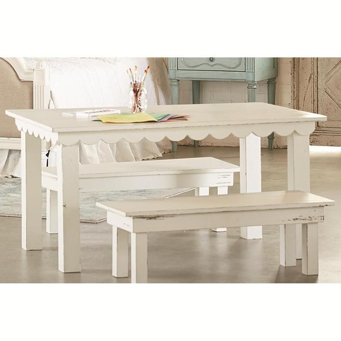 Popular Magnolia Home Array Dining Tables By Joanna Gaines Pertaining To Magnolia Home Farmhouse Kid Table In Jo's White (View 10 of 20)