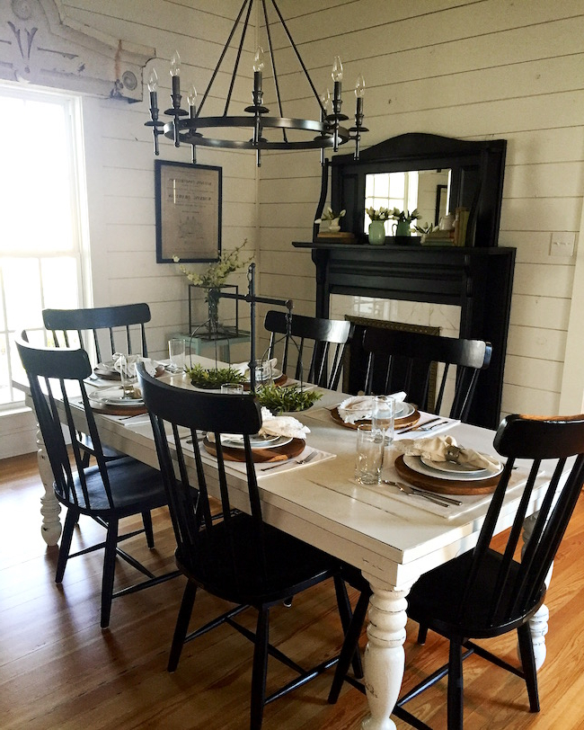Popular Magnolia Home Breakfast Round Black Dining Tables With The Magnolia House (View 18 of 20)