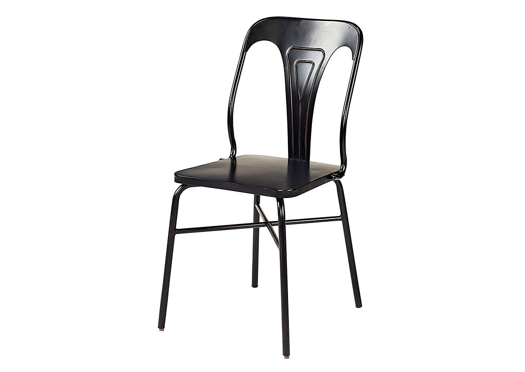 Popular Magnolia Home Contour Milk Crate Side Chairs Throughout Penland's Furniture Gaven Chimney Finish Metal Stamped Chair (set Of 2) (View 15 of 20)