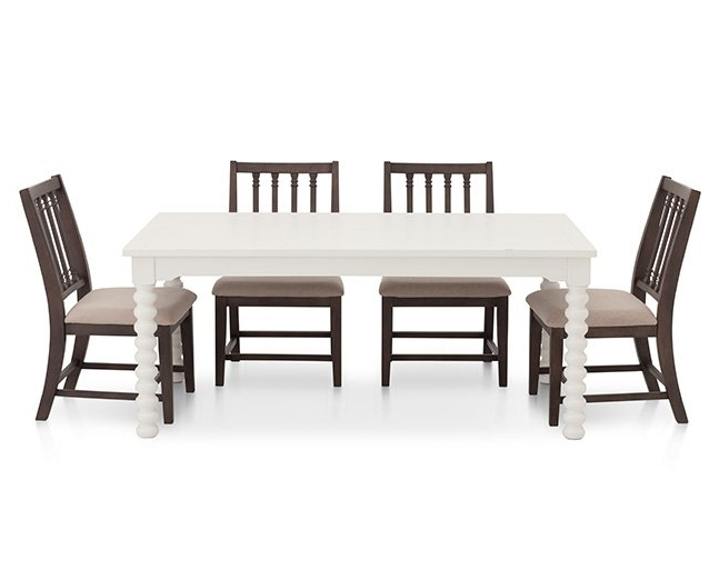 Popular Magnolia Home Revival Jo's White Arm Chairs Intended For Magnolia Home Spool Leg 5 Pc (View 5 of 20)