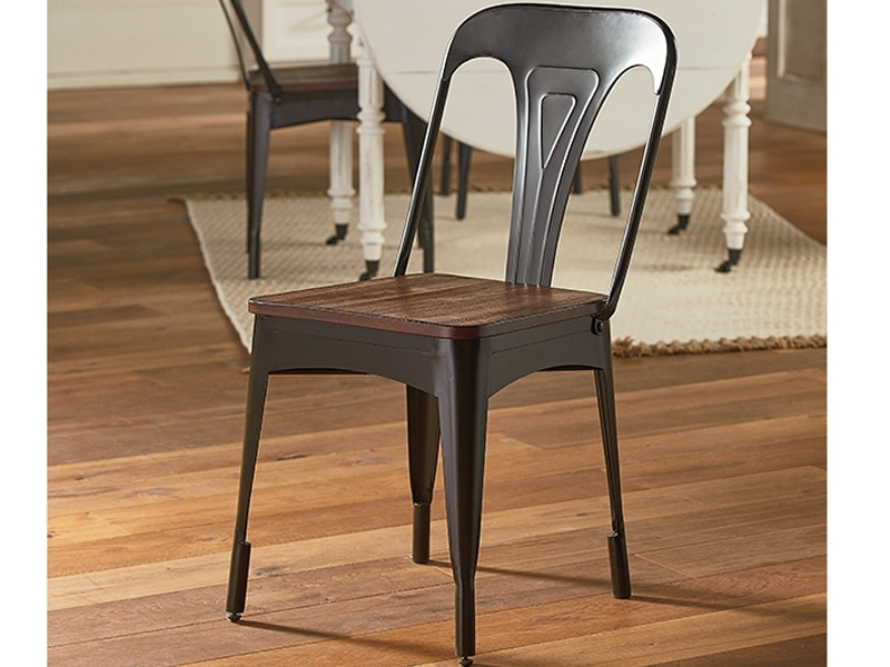 Popular Magnolia Home Revival Jo's White Arm Chairs Pertaining To Metal Cafe Side Chairmagnolia Home (View 8 of 20)