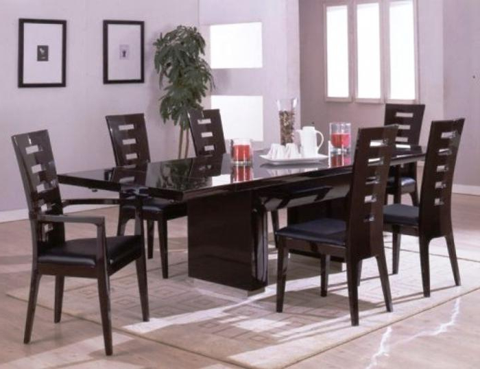 Popular Modern Dining Sets With 10 Modern Dining Room Sets With Awesome Upholstery – Rilane (View 16 of 20)