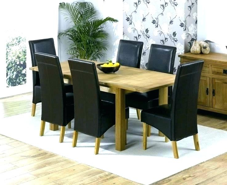 Popular Oak Chairs For Dining Table Bob Solid Oak In Round Dining Table W 6 Inside Oak Dining Set 6 Chairs (View 15 of 20)