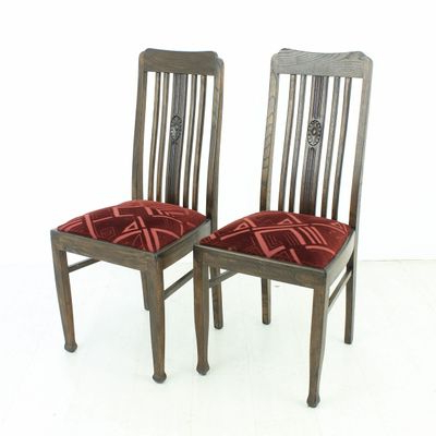 Popular Oak Dining Furniture For Vintage Oak Dining Chairs, 1920S, Set Of 2 For Sale At Pamono (View 13 of 20)