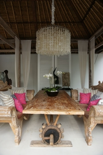 Popular Oazia Aqua, Umalas Kerobokan, Bali Villa With Bali Dining Tables (View 15 of 20)