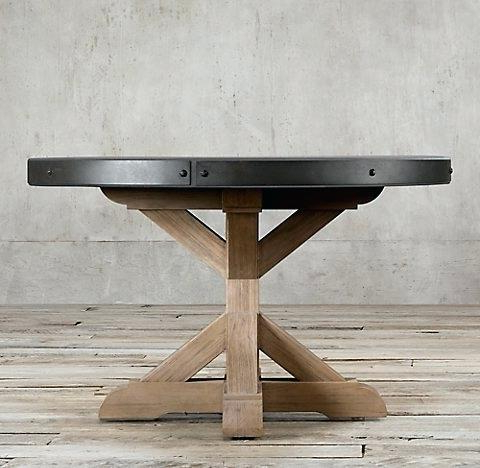 Popular Oval Reclaimed Wood Dining Tables In Reclaimed Wood Round Dining Tables Willow Dark Reclaimed Wood Round (View 19 of 20)