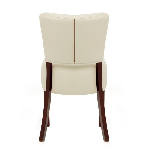 Popular Ramsay Walnut Dining Chair Cream Leather – Atlantic Shopping In Cream Leather Dining Chairs (View 13 of 20)