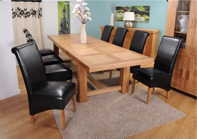 Popular Roma Chunky Solid Oak Dining Room Furniture Extending Dining Table Intended For Roma Dining Tables (Gallery 20 of 20)