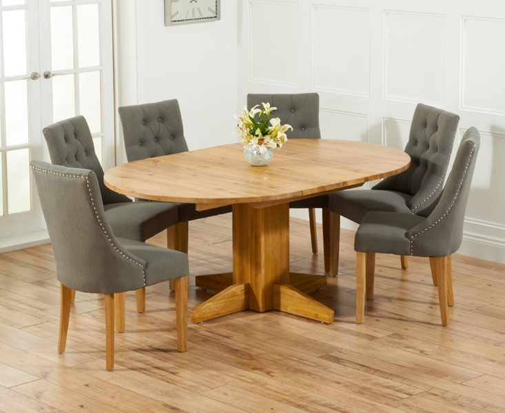 Popular Round Extending Dining Tables Sets Intended For Buy Mark Harris Monte Carlo Solid Oak Round Extending Dining Set (View 4 of 20)