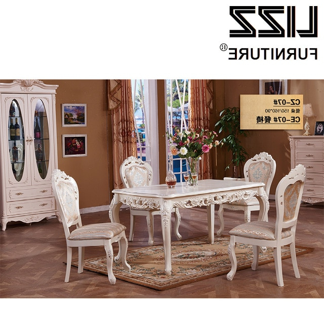 Popular Royal Dining Tables With Regard To Marble Dining Table Dining Room Furniture Set Royal Furniture (View 17 of 20)