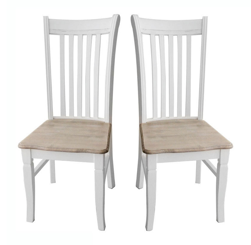 Popular Shabby Chic Dining Chairs Throughout Bentley Home Pair Of Shabby Chic Dining Chairs (View 4 of 20)