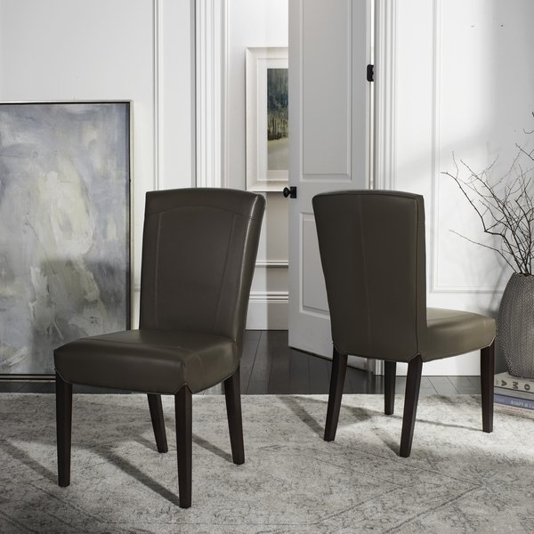 Popular Shop Safavieh Parsons Dining Bowery Brown Clay Leather Dining Chairs Inside Bowery Ii Side Chairs (View 18 of 20)