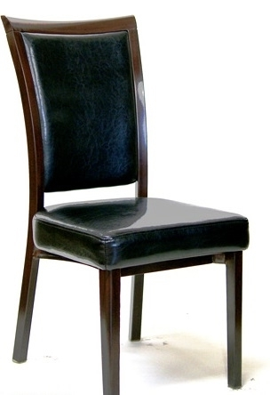 Popular Upholstered Metal Restaurnt Dining Chair Intended For Plywood & Metal Brown Dining Chairs (View 13 of 20)