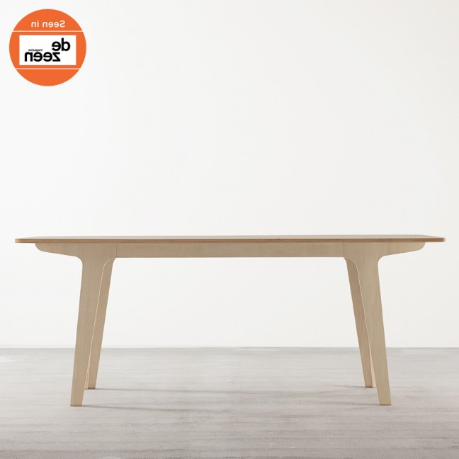 Popular Victor Dining Tables Intended For Victor Dining Table In Ply + White – Tables – Joined + Jointed (Gallery 14 of 20)