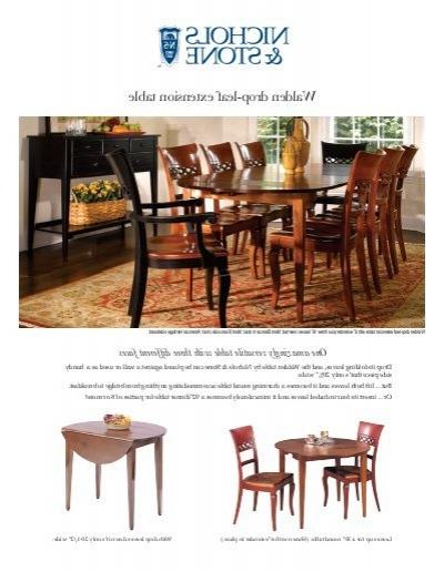 Popular Walden Drop Leaf Extension Table – Stickley Inside Walden Extension Dining Tables (View 11 of 20)