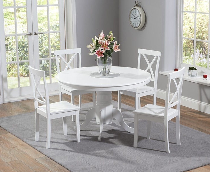 Popular White Circle Dining Tables Regarding Why Should You Choose White Dining Table And Chairs – Home Decor Ideas (View 10 of 20)