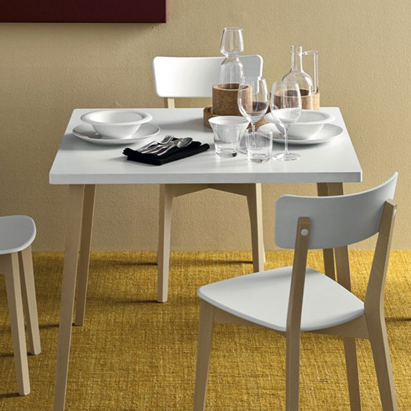 Popular White Melamine Dining Tables Pertaining To Jelly Tableconnubia Calligaris (View 9 of 20)