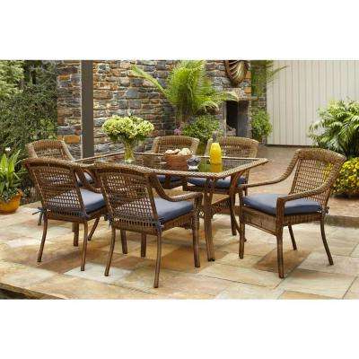 Popular Wicker Patio Furniture – Hampton Bay – Glass – Patio Dining With Wicker And Glass Dining Tables (View 11 of 20)