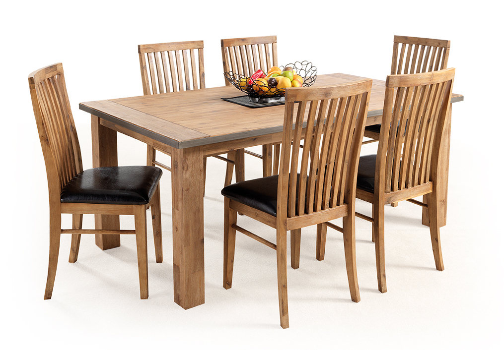 Portland 7 Piece Dining Setting – Moorabbin Home Furnishers With Regard To Best And Newest Portland Dining Tables (View 10 of 20)