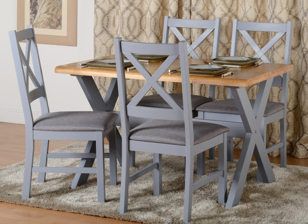 Portland Dining Tables With Regard To Recent Portland Dining Set In Blue/grey (View 4 of 20)