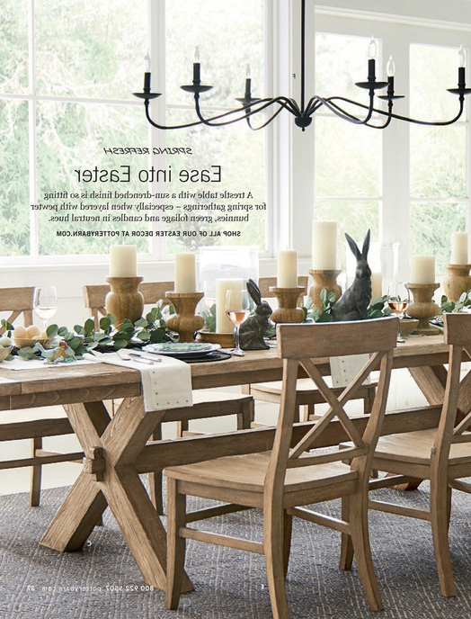 Pottery Barn – Spring 2017 D2 – Toscana Rectangular Dining Table, 70 Pertaining To Widely Used Toscana Dining Tables (View 11 of 20)