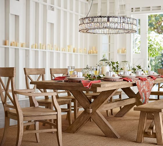 Pottery Barn Toscana Extending Dining Table – Art Of Living Ministries Throughout Famous Toscana Dining Tables (View 14 of 20)