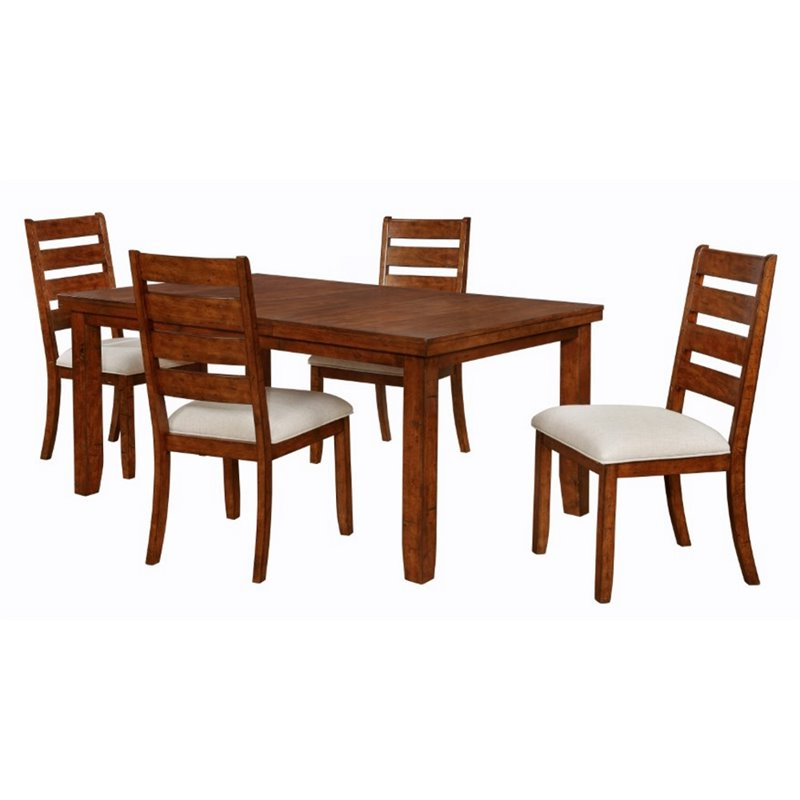 Powell Gavin 5 Piece Wood Dining Set In Walnut – 16D2006 With Regard To Most Up To Date Gavin Dining Tables (View 17 of 20)