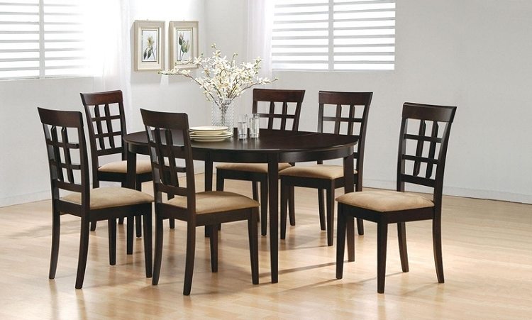 Preferred 6 Chairs And Dining Tables With Delightful Design 6 Chair Dining Table Unusual Ideas Round Wood With (View 12 of 20)
