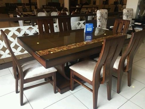 Preferred 6 Seater Dining Tables Intended For Teak Dining Table ( 6 – Seater ) At Rs 51400 /set (View 9 of 20)