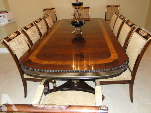 Preferred Antique Penn Table Company Walnut Dining Table And Chairs For Sale Throughout Victor Dining Tables (View 11 of 20)