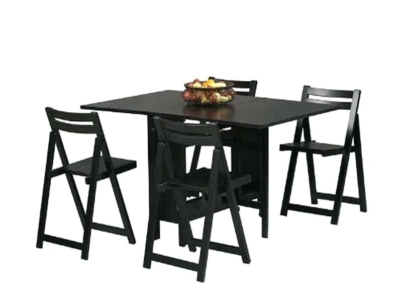 Preferred Black Folding Dining Tables And Chairs For Table With Chairs Inside – Tasteofmanna (View 5 of 20)