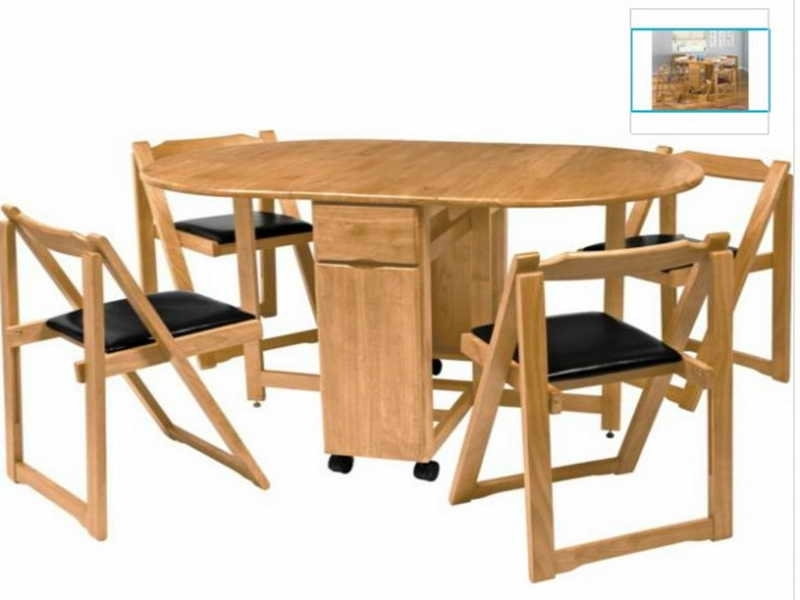 Preferred Black Folding Dining Tables And Chairs With Regard To Warm Wooden Dining Furniture For Folding Styles With Black Cushioned (View 4 of 20)