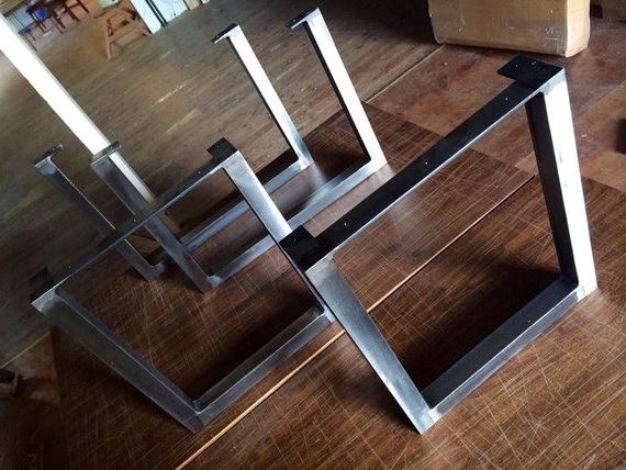 Preferred Brushed Metal Dining Tables With Brushed Square Metal Legs Table Legs Steel Legs Dining Legs (View 12 of 20)