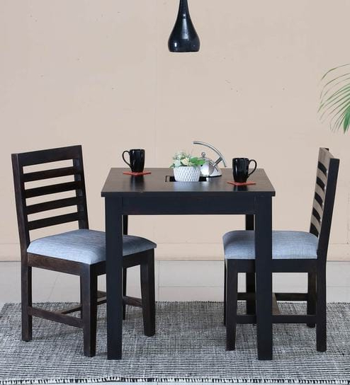 Preferred Buy Stigen Solid Wood Two Seater Dining Set In Warm Chestnut Finish For Two Seater Dining Tables (Gallery 6 of 20)