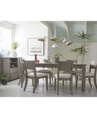 Preferred Caira Black 7 Piece Dining Sets With Arm Chairs & Diamond Back Chairs With Tribeca Grey Expandable Dining Furniture, 9 Pc (View 12 of 20)
