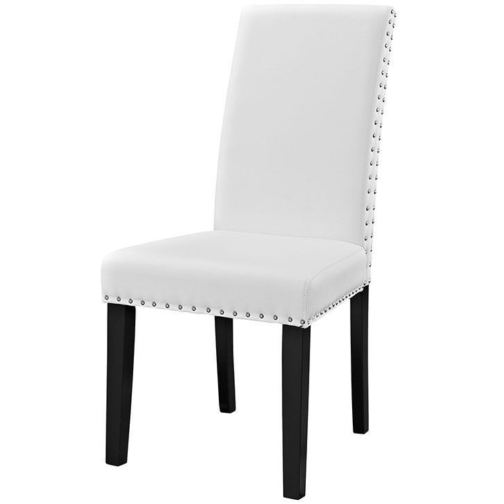 Preferred Caira Black Upholstered Side Chairs In Parcel Dining Vinyl Side Chair (View 15 of 20)